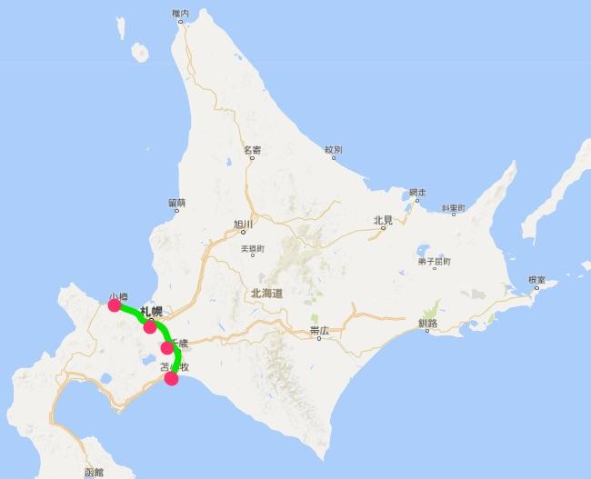 北海道 測定エリア
