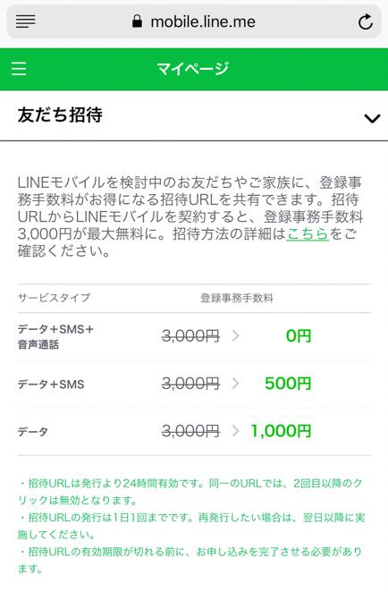 LINEモバイル 友達紹介 条件