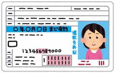 本人確認書類 運転免許証