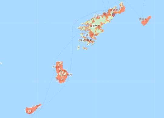 UQモバイル 通信エリア 沖縄 北側 奄美大島など